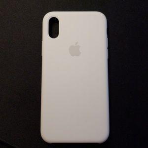 Apple iPhone X White Silicone Case